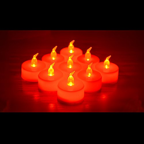 24 Pack Led Tea Lights Candles Flickering Flameless