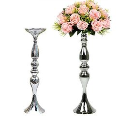 2 Pieces 50cm Height Metal Candle Holder Candle Stand Wedding Centerpiece Event Road Lead Flower ...