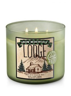 Bath and Body Works White Barn 2017 Snow Mountain Lodge 3 Wick Candle 14.5 Ounce Made With Essen ...