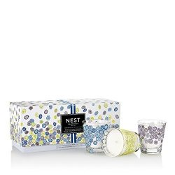 NEST Fragrances Limited Edition Spring Petite Candle Trio Set: Linen, Grapefruit, Cedarleaf &amp ...