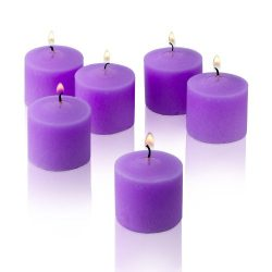 Lavender Votive Candles – Box of 72 Unscented Candles – 10 Hour Burn Time – Bu ...