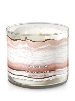 Bath and Body Works White Barn Wisdom Quartz Crystal 3 Wick Candle 25 to 45 Hour Burn Time