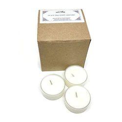 Caribbean Teakwood Scented Vegan Soy Tea Light Candles – 16 Box Set