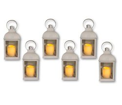 Just In Time for Spring {6pc Set} 10″ Decorative Lanterns + L E D Lighted Candle w/Flicker ...