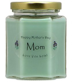"""""""Mom"""" Mothers Day Candle – Cucumber Melon Scented Mothers Day Gift Candle R ..."""