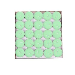 BecuseOf Round Set of 50, Shaped Candles, Tealight Candles Bulk for Valentines Day Birthday Wedd ...