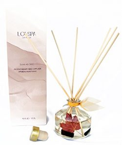LOVSPA Sugar & Spice Scented Reed Diffuser Oil Gift Set by Real Cinnamon Sticks! Cinnamon, B ...