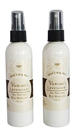 Victoria's Lavender ORGANIC ALL NATURAL BUG REPELLENT SPRAY PACK OF 2 Made in Oregon DEET  ...