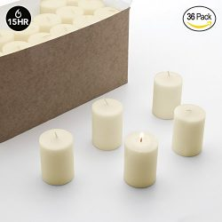 Royal Imports Votive Candle, Unscented Ivory Wax, Box of 36, for Wedding, Birthday, Holiday & ...