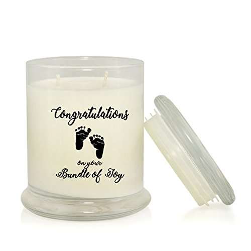 Congratulations on Your Bundle of Joy 8.5 oz. Lavender Scented Soy Candle – Mom to Be Gift ...