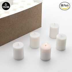 Royal Imports Votive Candle, Unscented White Wax, Box of 36, for Wedding, Birthday, Holiday &amp ...
