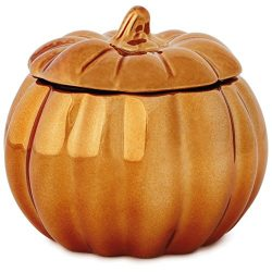 Coppered Pumpkin-Shaped Filled Candle, 6.5 oz. Candles