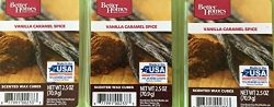 Better Homes and Gardens Vanilla Caramel Spice Wax Cubes, 3 Packs of 6 Cubes