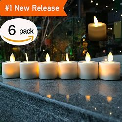 LED Tea Light Candles,Battery Operated Warm White Flameless Window Pillar Candle Bluk With Danci ...