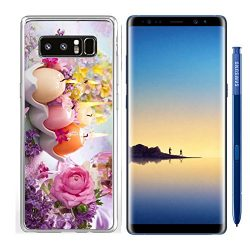 Luxlady Samsung Galaxy Note8 Clear case Soft TPU Rubber Silicone IMAGE ID: 25841756 Colorful Eas ...