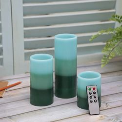 CEDAR HOME Flameless Candles LED Battery Powered Pillar Tealight Real Scented Wax with Remote, P ...