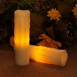Flameless Led Candles, Battery Operated Wax Candle With Timer for Valentine's Day and Home ...