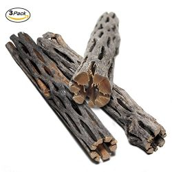 SunGrow Natural Cholla Wood, 3 Pieces, 5 inches Long: Aquarium Decoration and Chew Toys for smal ...