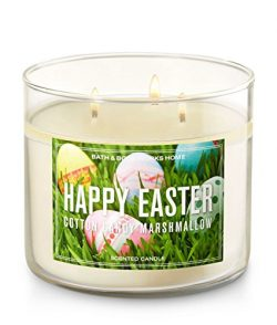 Bath and Body Works Happy Easter Cotton Candy Marshmallow 3-wick Candle
