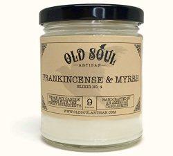 Frankincense and Myrrh Scented Vegan Jar Soy Candle – 9 oz