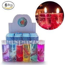 Hacloser 6Pcs Ocean Jelly Aromatherapy Candles Wedding Valentines Romantic Scented Candle, Rando ...