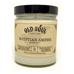Egyptian Amber Scented Vegan Jar Soy Candle – 9 oz