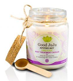 Good JuJu Apothecary 7 oz. Organic Therapeutic Massage Candle for Stress, Headaches & Balanc ...