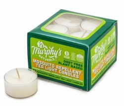 Murphy's Naturals Mosquito Repellent Tea Light Candles – 12 Pack – Effective C ...