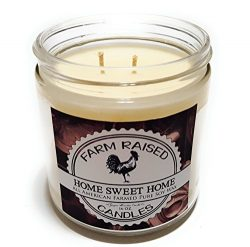 Home Sweet Home Premium Scented. Double Wicked Candle 16 Ounces Wide Jar. 100% All Natural Ameri ...