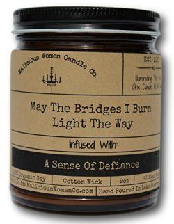 Malicious Women Candle Co – May The Bridges I Burn Light The Way, Bonfire (Campfire &  ...