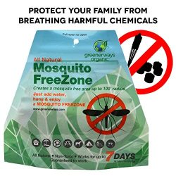 GREENERWAYS ORGANIC Mosquito Repellent Zone – Non-Toxic Organic Insect Repellent All Natur ...