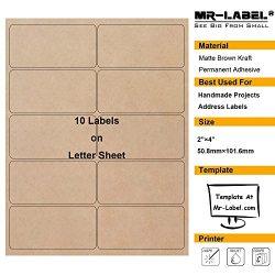 "Mr-Label 2""×4"" Printable Natural Kraft Brown Label Sticker – For Mason Jars | Crafts | Can ..."