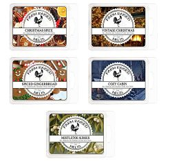 Cool Weather Mix Variety Assortment 5 Pack. USA Made Scented Wax Melts.100% All Natural Farm Rai ...