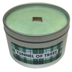 Wooden Wick Scented Candle | Pine and Fresh Air Scent (Tunnel of Trees) | Highly Scented Crackli ...