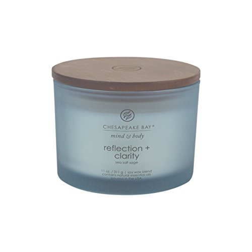Chesapeake Bay Candle Mind & Body Coffee Table Scented Candle, Reflection + Clarity (Sea Sal ...
