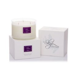 Isle of Skye Candle Company Lavender 3-Wick Scented Candle, White by Isle of Skye Candle Company