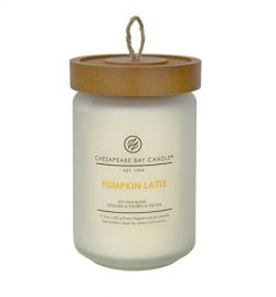Chesapeake Bay Candle Heritage Collection Large Glass Jar Scented Candle with Lid, Pumpkin Latte