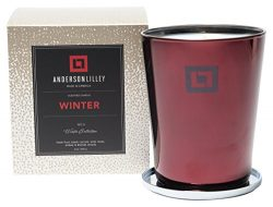 ANDERSON LILLEY WO1220 Fragrance Winter Collection Candle, 12 oz, Red