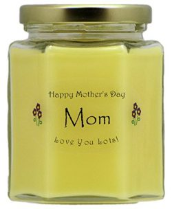 Just Makes Scents Mom Mothers Day Candle – Honeysuckle Scented Mothers Day Gift Candle &#8 ...