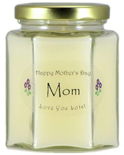Just Makes Scents Mom Mothers Day Candle – Gardenia Scented Mothers Day Gift Candle – ...