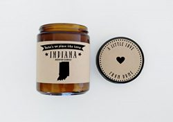 Indiana Scented Candle Missing Home Homesick Gift Moving Gift New Home Gift No Place Like Home S ...