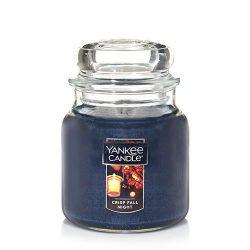 Yankee Candle Medium Jar Candle, Crisp Fall Night
