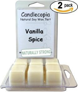 Candlecopia Vanilla Spice Strongly Scented Hand Poured Premium Natural Soy Wax Melts, 12 Soy Wax ...
