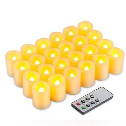 Kohree LED Votive Unscented Battery Powered Candles Flameless Pillar Candles With Remote Control ...