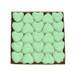 BecuseOf 50Pcs Set Heart Shaped Candles, Love Candle Bulk for Valentines Day Birthday Wedding Pa ...