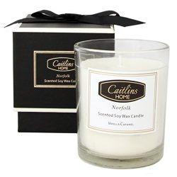 Caitlins Home Vanilla Caramel Scented Candle Aromatherapy Natural Soy Wax – Home Fragrance ...