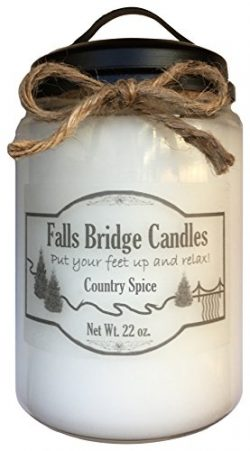 Country Spice, 22 oz. Scented Jar Candle, Falls Bridge Candles