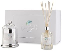 Aromatherapy Candle and Reed Diffuser Sets | Scented Soy Candles | Fragrance Hints of Vanilla an ...