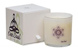 Lavender Bergamot Candle by OneSoul | Spiritual Natural Soy Wax Hand Poured Highly Scented Aroma ...