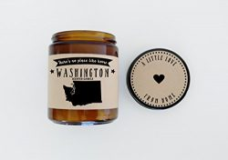 Washington Scented Candle Missing Home Homesick Gift Moving Gift New Home Gift No Place Like Hom ...